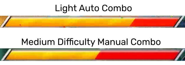 Dragon Ball FighterZ auto combo manual combo damage