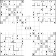 X-Factor & Irregular Samurai Sudoku