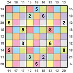 Colour Border Sum Sudoku