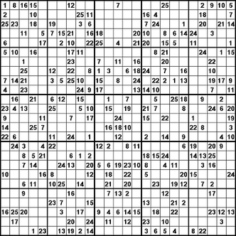 25x25 Sudoku