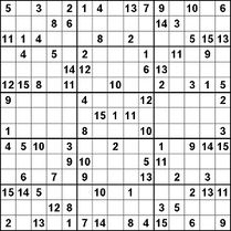 15x15 Sudoku