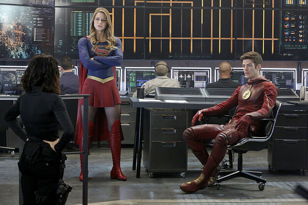 Kara and Barry chilling