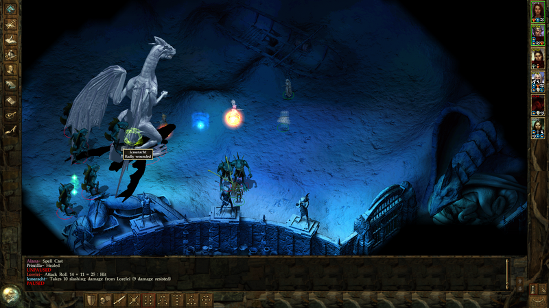 The final boss encounter from Icewind Dale: Heart of Winter.