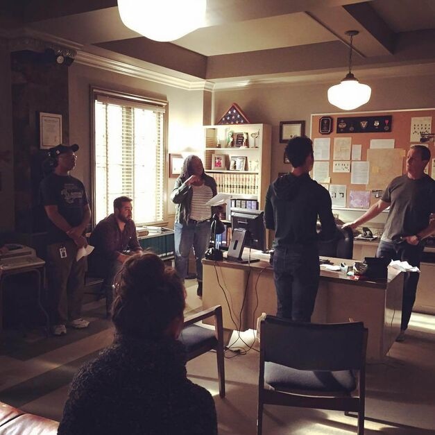Teen Wolf Season 6 Behind the Scenes Angela Harvey, Tyler Posey, Linden Ashby