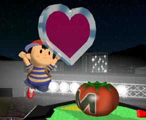 A screenshot of Ness from Super Smash Bros. Melee.