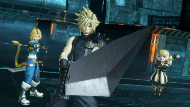 Cloud, Zidane, and Shantotto poised for battle in DIssidia Final Fantasy NT
