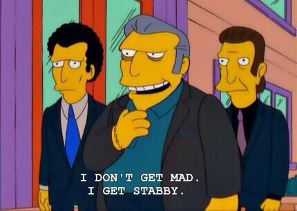 the simpsons stabby