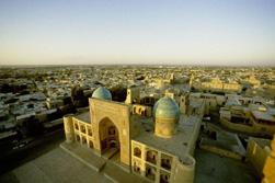 Usbekistan morgenland luftbild stadt