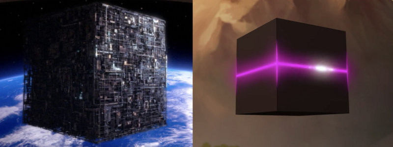 The Borg Cube (Star Trek) vs. the Galra Cube (Voltron)