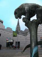 Aachen Biest essen Dom auf