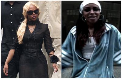 Lil' Kim and Aaliyah