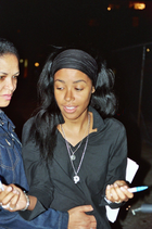 Aaliyah autographing