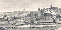 Lobbes, abbaye avant 1794 (gravure)