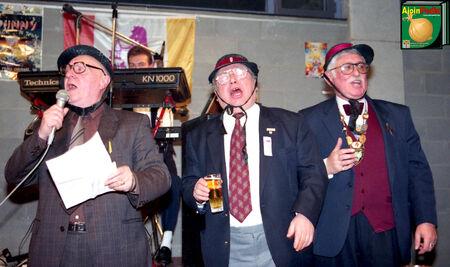 1992 Driekoningenfeest Frans Wauters, Odilon Mortier, Herman Louies