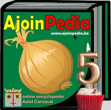 Logo ajoinpedia 5 jaar