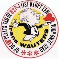 Frans Wauters - kandidaat BSP Gemeenteraadsverkiezingen 1976