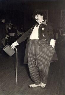 Karel De Naeyer als Charly Chaplin 1970