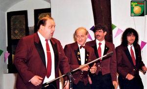 Driekoningenfeest 1996 De Prinsengarde Michel Heck, Paul Kinoo, Patrick De Neve, Werner Kinoo