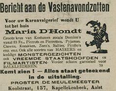 Maria Dhondt 1939