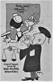 Cartoon arrest Alloo