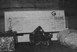 De cheque Driekoningenfeest 1981