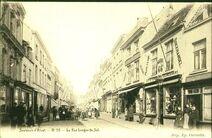 Postkaart van de Lange Zoutstraat te Aalst.
