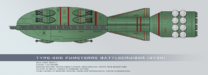Type 600 fumeterre battlecruiser by rvbomally-d9it7gv