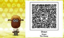 Mii Tomodachi Life Shaun The Sheep QR