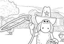 Shaun The Cowboy colouring