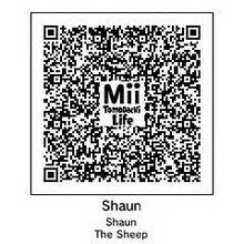 Shaun The Sheep Tomodachi QR