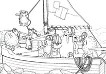 The Boat Colouring