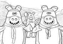The Naughty Pigs Colouring