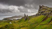 Old man of storr mountains highlands