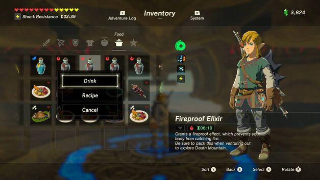 Zelda Breath of the Wild Recipes