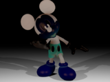 Darkened Photo-Negative Mickey