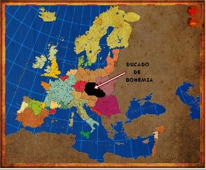 Mapa Bohemia