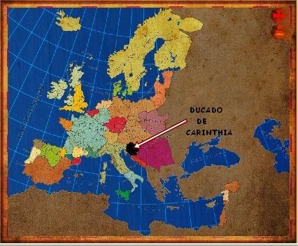 Mapa Carinthia