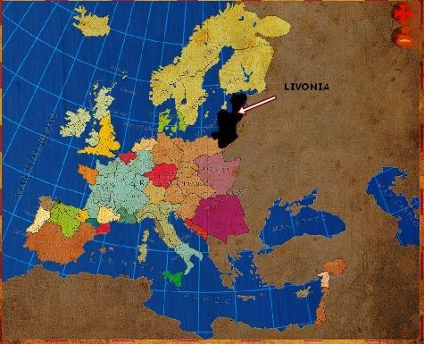 Mapa Livonia