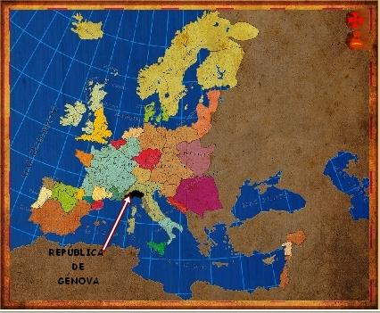 Mapa Génova