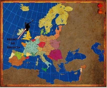 Mapa Escocia