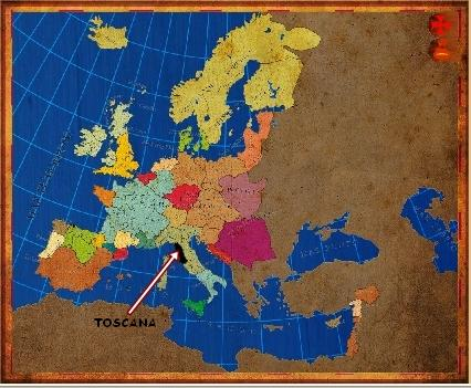 Mapa Toscana