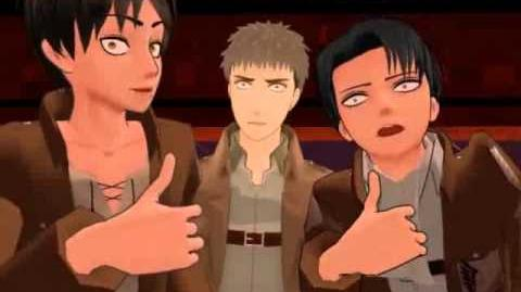 MMD Jean does not like to sing - Shingeki no Kyojin parody