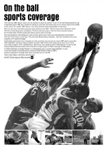 NBA on ABC TV ad 1965