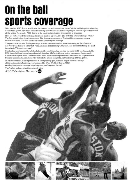NBA on ABC TV ad 1965