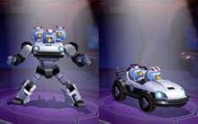 Bluestreak car and robot form