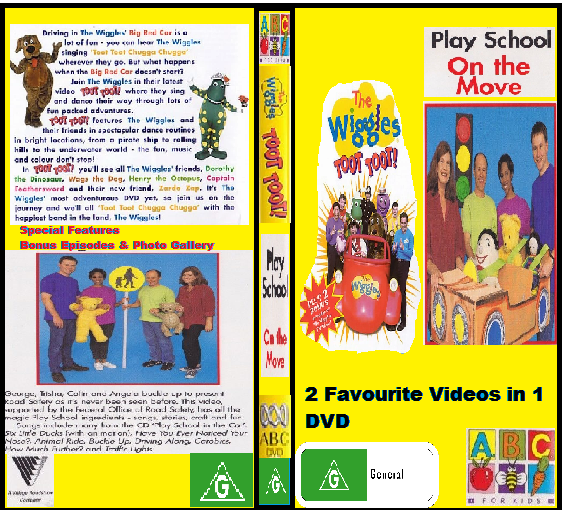 The Wiggles & Play School Toot Toot (re-release) & On The