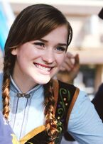 Elizabeth Lail on the sets of Once Upon A Time