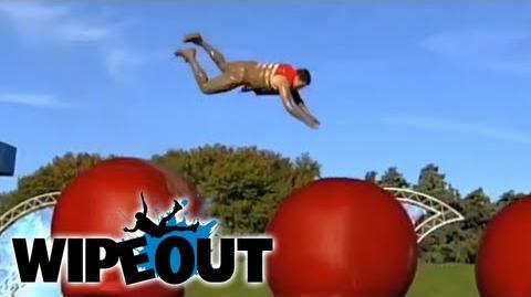 Huge front flip and faceplant! Fails Wipeout