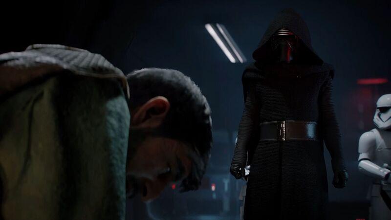 Battlefront II Kylo Ren interrogates Del Meeko