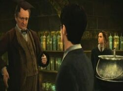 Professor Slughorn, Harry Potter and Hermione Granger
